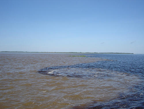 Meeting of the Rivers Negro-Solimões, Amazon